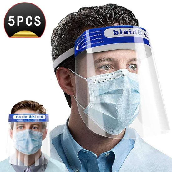 Protective Film Protect Eyes and Mouth Full Face Protective Shield Adjustable Anti-saliva