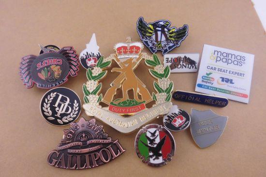 Factory Wholesale Metal Zinc Alloy Die Casting Badge with Fast Service, Hard Enamel, 3D No Enamel, Soft Enamel