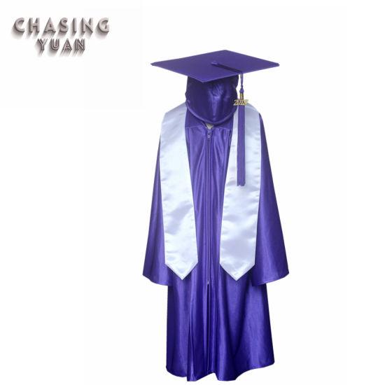 Shiny Purple Childrens 2019 Graduation Stoles Caps Gowns