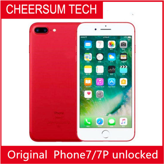 Unlocked Refurished Cellphone7 Original Apple Cellphone 7/ 7 Plus Quad Core 2GB RAM 32GB 128GB 256GB ROM 12.0MP 4G Mobile Phone Without Touch ID