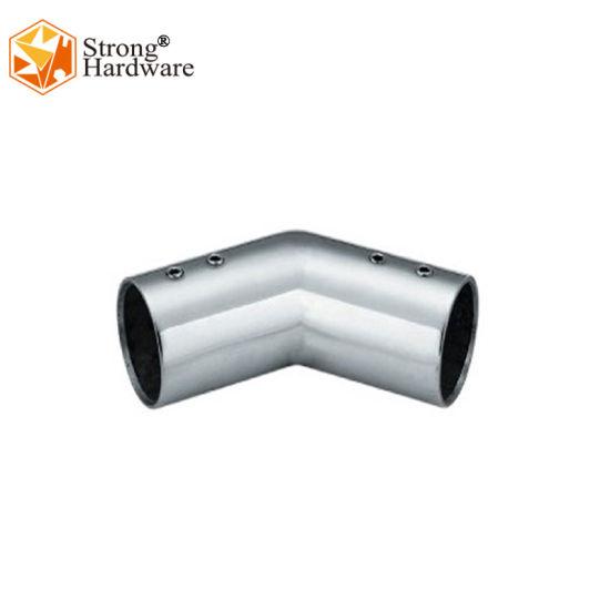 Welding Stainless Steel304 Bathroom Glass Door Round Pipe Connector