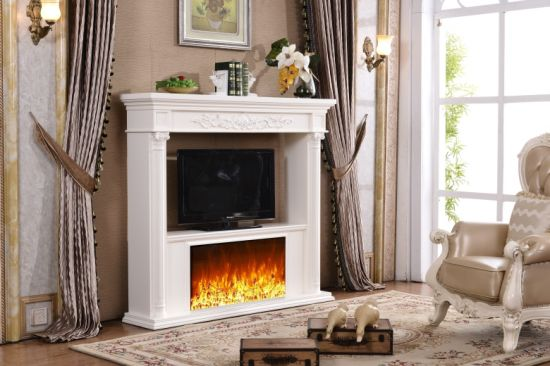China Simplifire Wall Mount Electric Fireplace With Tv Stand