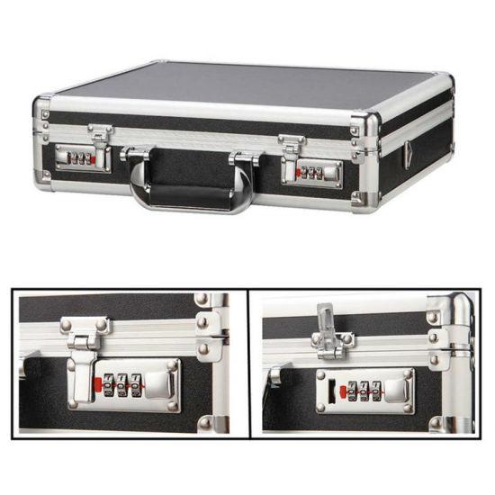 Aluminum Mens Attache Briefcase Business Hard Case Organizer with Password Lock