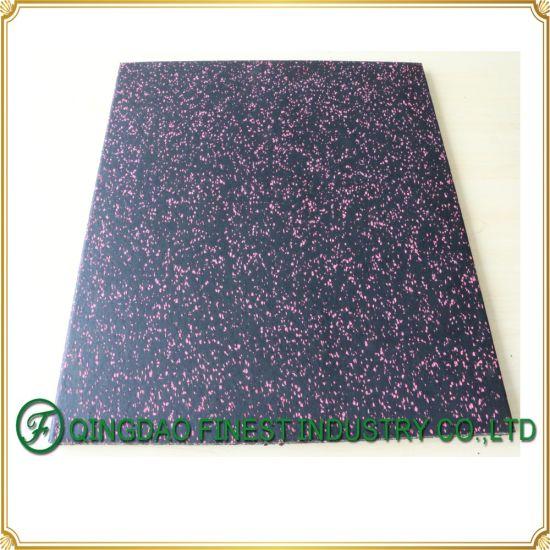 New Model Poreless Compound Gym Rubber Flooring Mat Tiles, Rubber Floor Mat for Crossfit