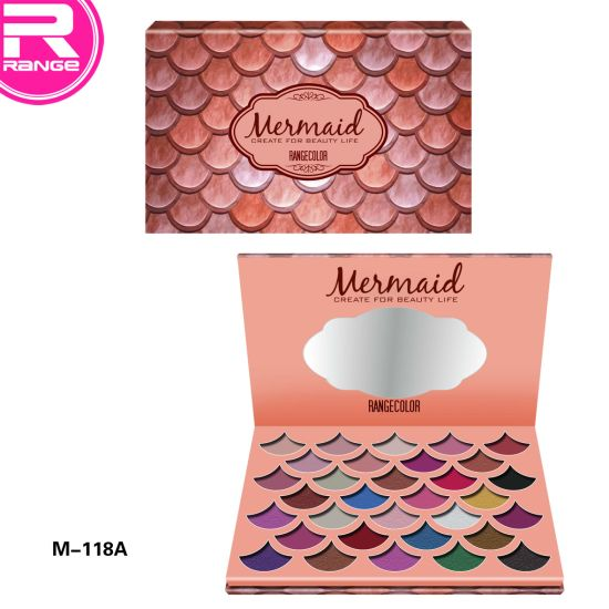 Hot 32 Color Mermaid High Pigment Glitter Mermaid Eyeshadow Palette with Your Own Design Brand pictures & photos