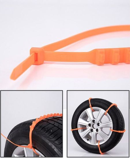 Plastic Winter Snow Tire Chain/Nylon Snow Tires Chain pictures & photos