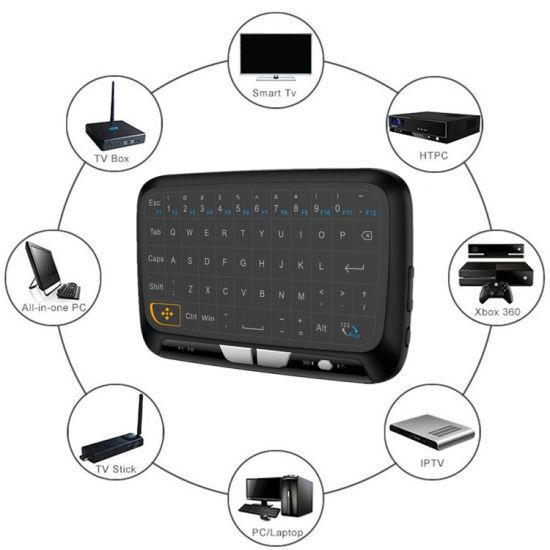 Mini Computer Backlit Keyboard H18 Wireless Mini Air Mose Control Laptop Keyboard