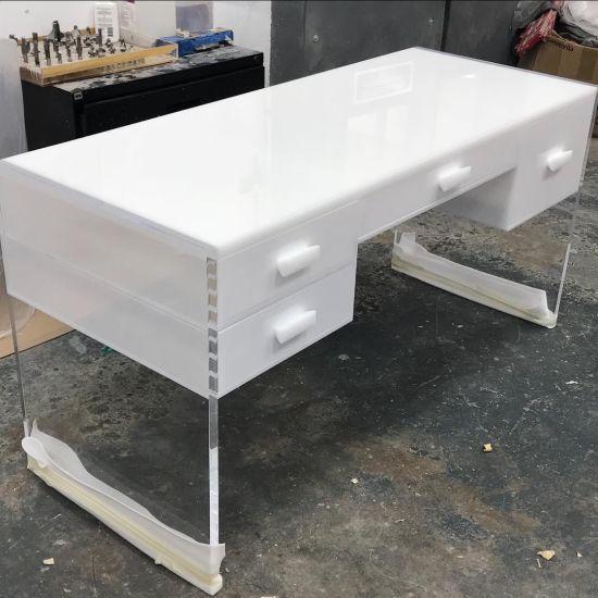 Acrylic Interiordesign Living Room Table Plexiglass Desk Transparent Furniture Coffee Table Reading Desk
