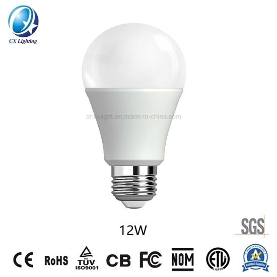 Hot-Sale LED Lamp E27/B22 A60 12W 85-265V 6500K SMD2835 Ce RoHS LED Bulbs