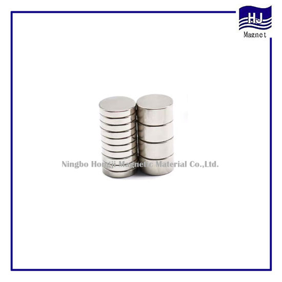 Different Thickness Cylinder Wafer Neodymium Magnet NdFeB with High Quality