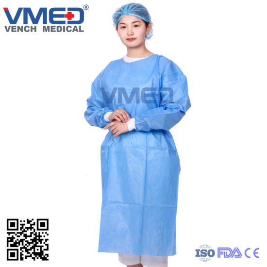 Disposable SMS Surgeon Gown, Disposable Isolation Hospital Surgical Gown Impervious SMS Medical Protective Gown, Protective Clothing pictures & photos