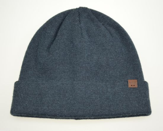 Plain Colors Wool Acrylic Beanie Customized Embroidery Knitted Hat