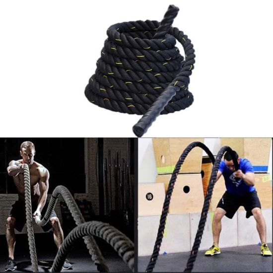 Heavy Jump Rope Skipping Rope Workout Battle Ropes for Men Women Total Body Workouts Power Training Improve Strength Building Mu