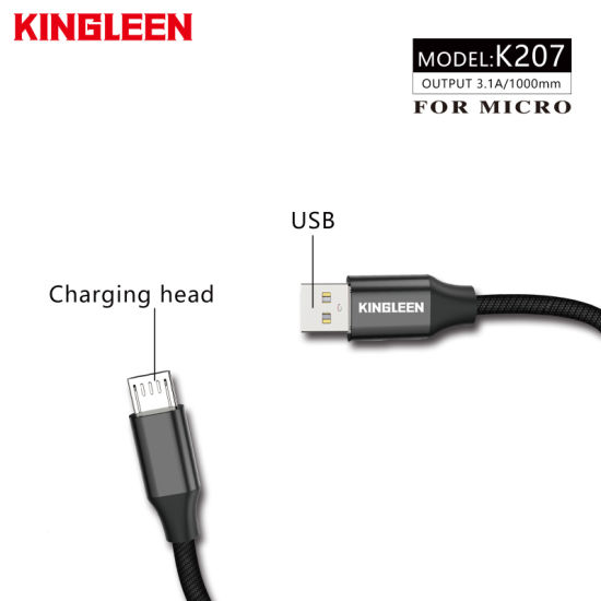 3.1A Output USB Cable for Micro Exclusive Use High Quality