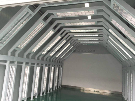 Autobody Lighting Tunnel Auto Body Painting Inspection Booth Line Checking  Car by Lighting Tunnel