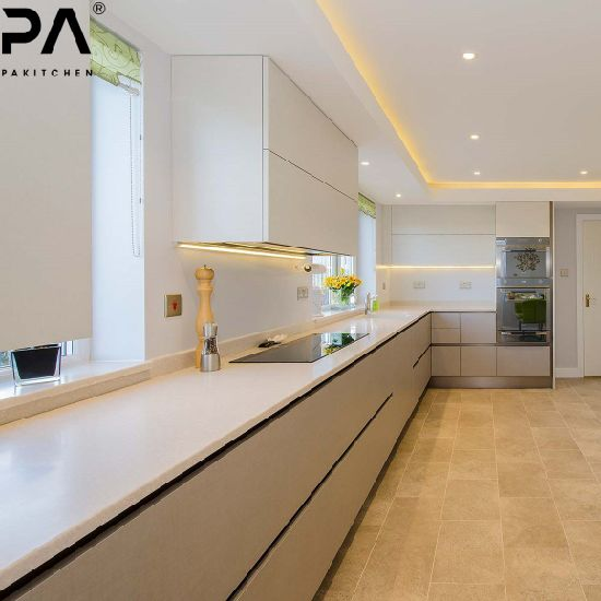 China Factory Prefab L Shaped Brown Color with Built in Oven Contemporary European Kitchen Cabinets
