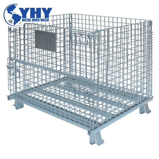 Heavy Weight Equipment Steel Mesh Wire Container Storage Cage