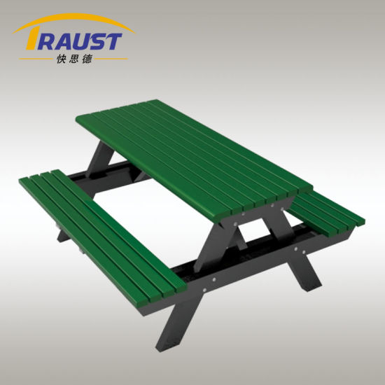 Terrific China Picnic Aluminum Bench With Tables Attached China Ibusinesslaw Wood Chair Design Ideas Ibusinesslaworg