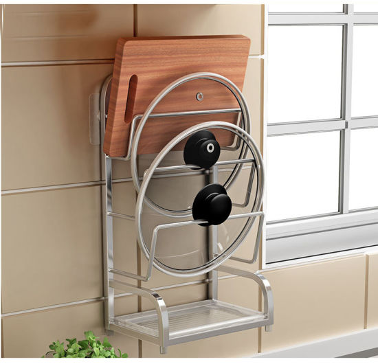 Metal Pan Lid Shelf Kitchen Organizer