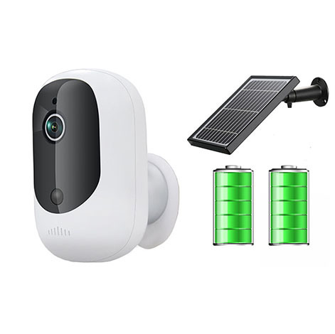 Solar Battery Powered WiFi Smart Camera with Sdk