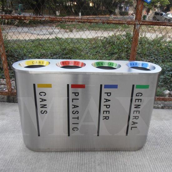 Distributor Metal Indoor Recycling Waste Bin, Shopping Mall Trash Can