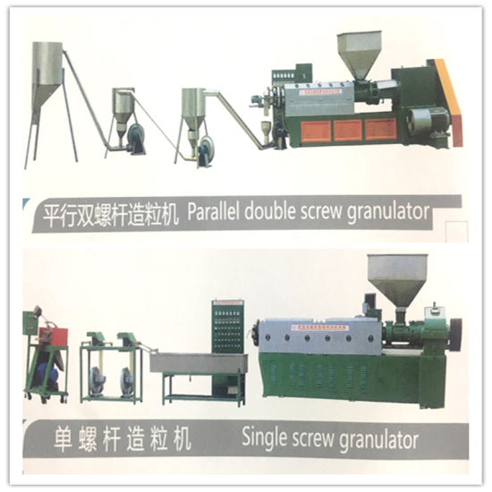 Wire Cable Extrusion machine Parallel Double /Single Screw Granulator
