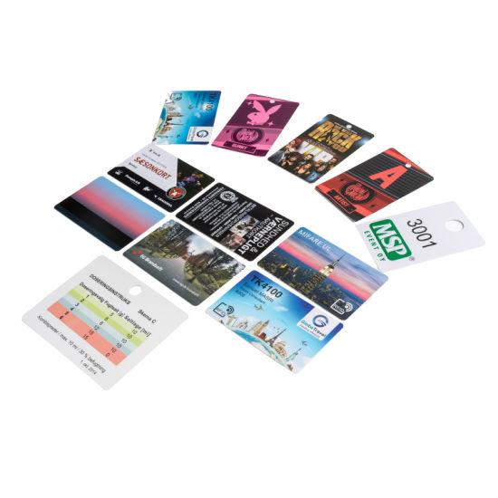 Plastic Qr Code Barcode Customized Printed PVC Plastic Card
