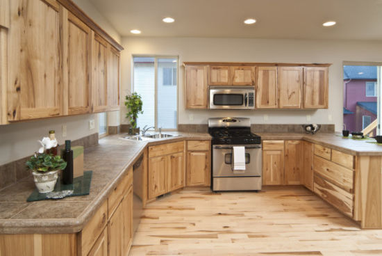 American Modern Style Solid Wood Kitchen Cabinets Furniture