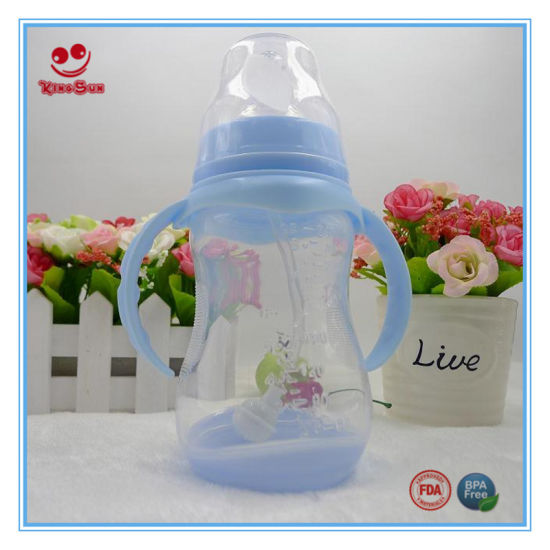 180ml Popular Feeding Bottle with Base and Handle pictures & photos