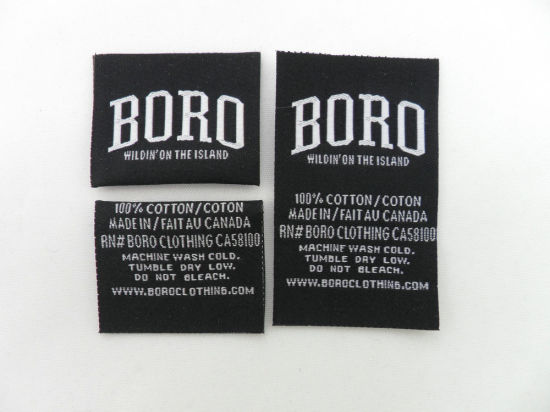 Letter Cream-Colored Garment Accessories Clothing Woven Label (LC-2014) pictures & photos