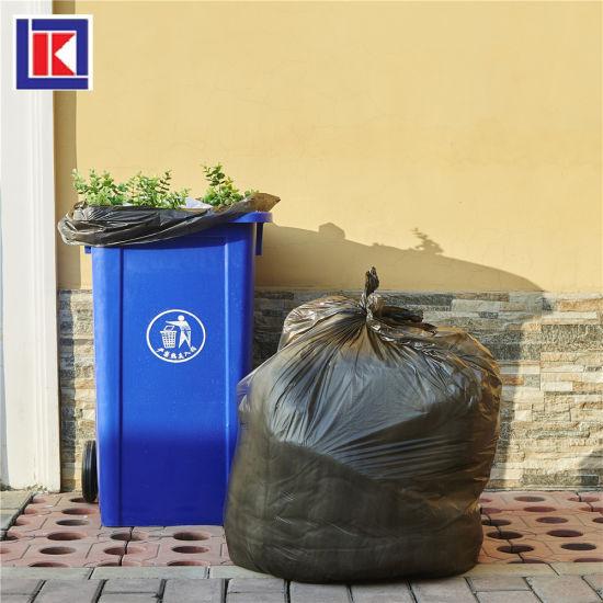 china heavy duty plasticplace 60 gallon black trash bag in roll