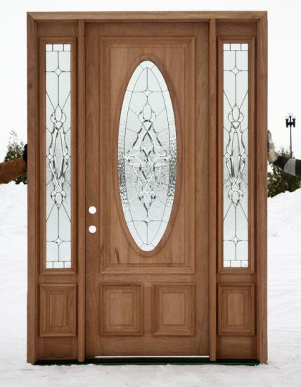 China Mahogany French Popular Style Clear Glass Solid Exterior
