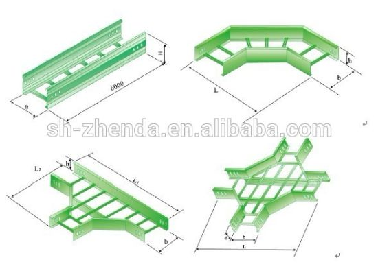 FRP with Cable Trunking PVC Cable Tray pictures & photos