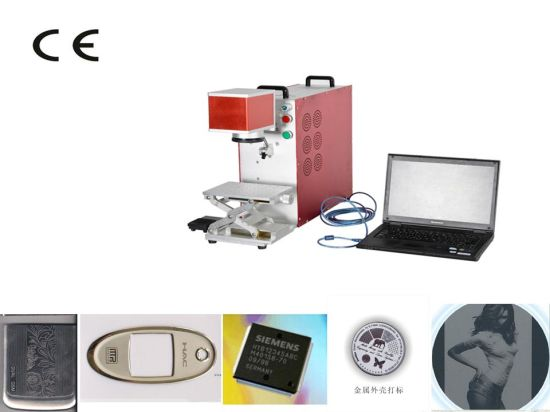 20W Hot -Selling Desktop Fiber Laser Marking and Cutting Machine for Logo pictures & photos