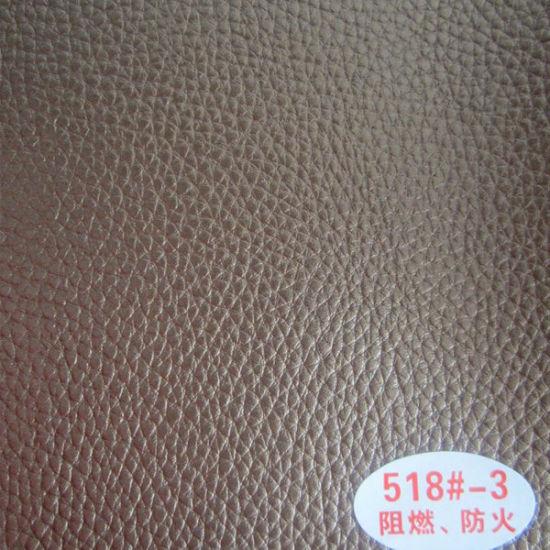 Metallic Pu Leather Sofa Material 518
