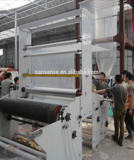 Plastic Film Extruder Set Machine with Two Layer Co-Extrusion Rotary pictures & photos