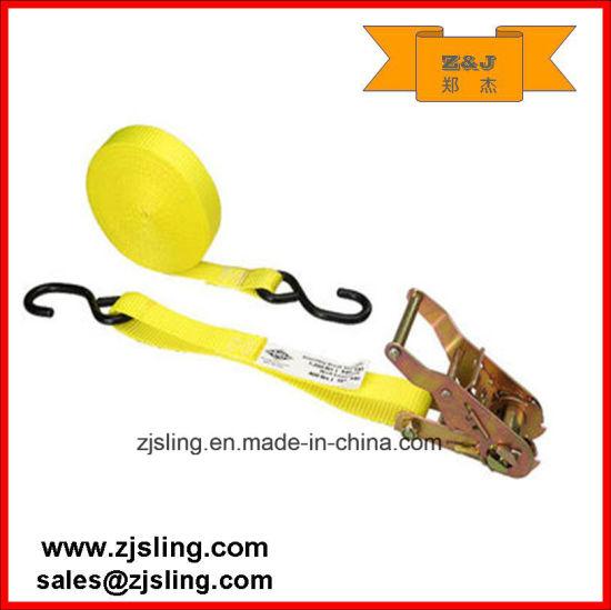 "1"" X 20' Cargo Ratchet Strap/Lashing W/ S-Hook"