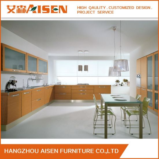 China 2019 High Quality Custom Wood Veneer Kitchen Cabinet China Kitchen Cabinet Modern Furniture