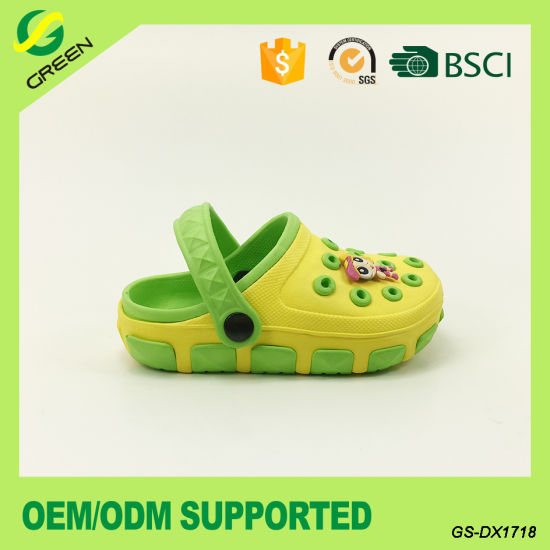 Closed Toe Kids Sandals Water-Proof EVA Clogs for Children (GS-DX1718) pictures & photos
