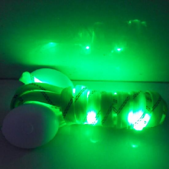 Green Brightness LED Light up Flashing Flat Shoelaces pictures & photos