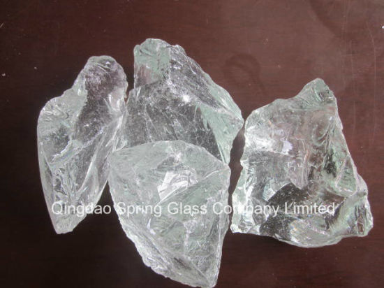 China Decorative White Clear Glass Rocks For Garden China Glass