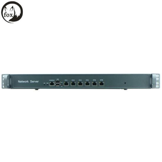 Atom D525 Firewall Server 1u 6 LAN Rackmount Intel 82538V Gbe Excluding RAM and Storage