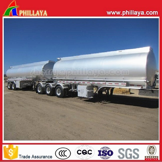 3axles Oil Mobile Tank Semi Trailer Stainless Steel Fuel Tanker with Volume 30-60cbm pictures & photos