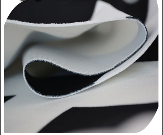 Polyester Spandex Black and White Printed Scuba Air Layer Knitting Fabric