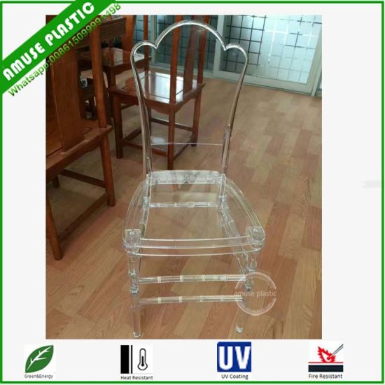 Transparent Polycarbonate Resin Children Chair For Party