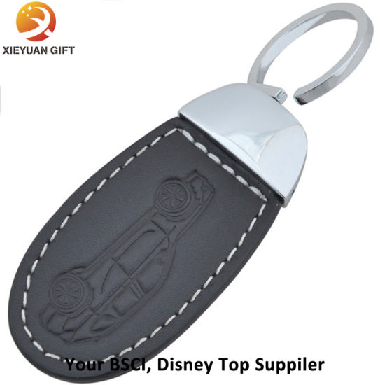 Wholesale Leather Belt Flat Keychains Rings for Souvenir pictures & photos