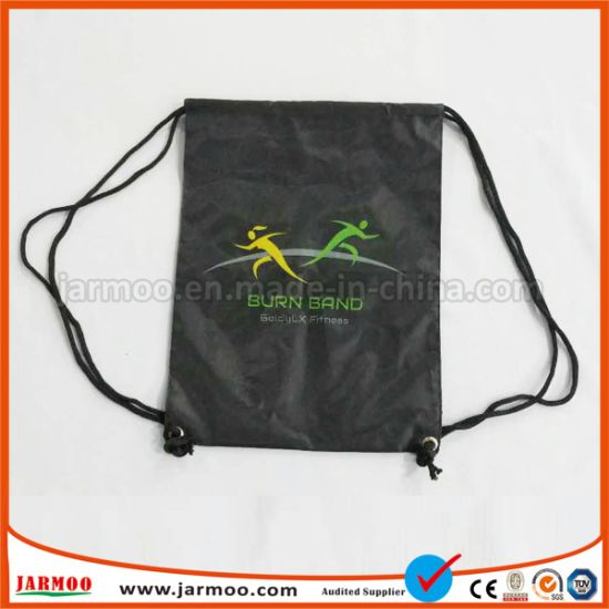 Storage Travel Polyester Drawstring Backpack Bag pictures & photos