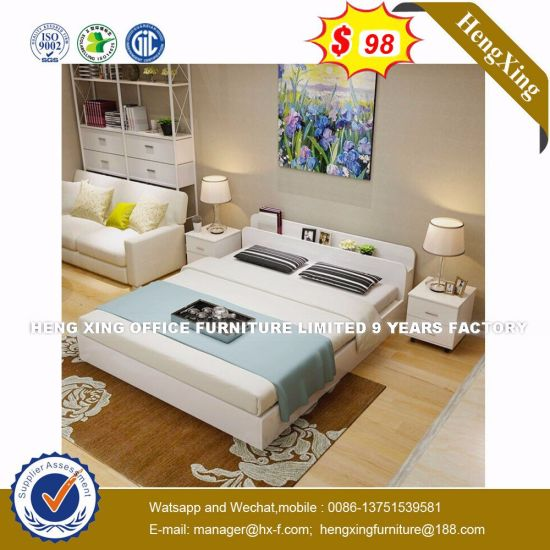 Shunde Inflatable with Pillow Wooden Bed (HX-8NR0774) pictures & photos