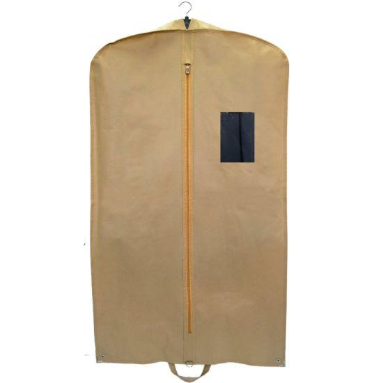 Pure Yellow Non Woven Cloth Coat Garment Bag