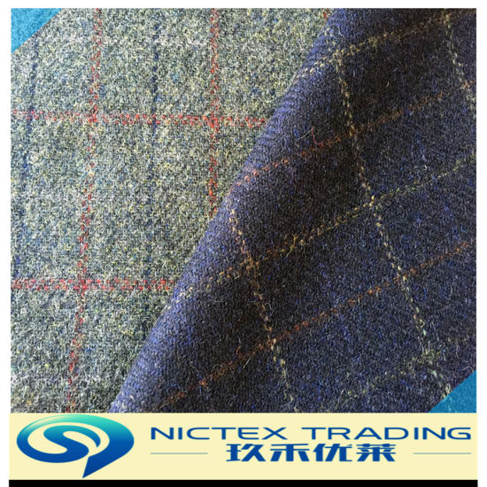 100% Wool Colorful Fancy Tweed English Wool Fabric, Britain Style Woolen Fabric, 450G/M